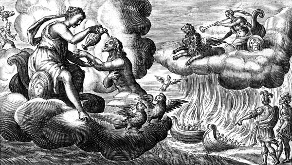 van de Passe Illustration - Venus immortalises Aeneas