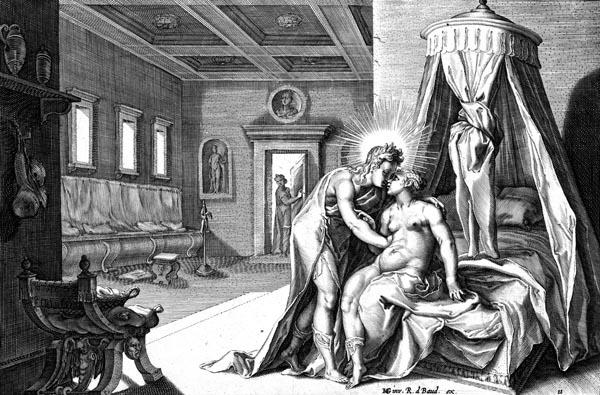Goltzius Illustration - Apollo Abusing Leucothoë