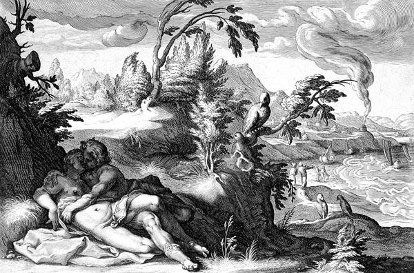 Goltzius Illustration - Apollo and Coronis