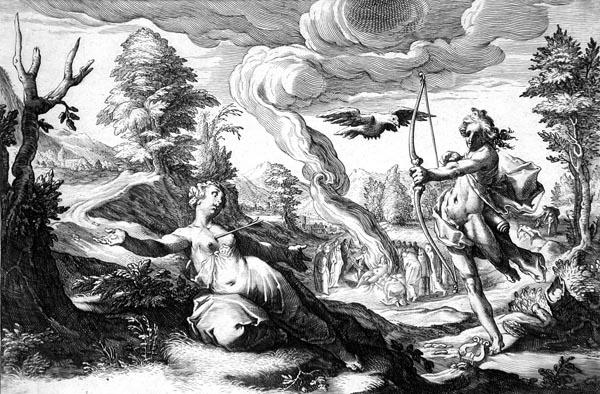 Goltzius Illustration - Apollo Killing Coronis
