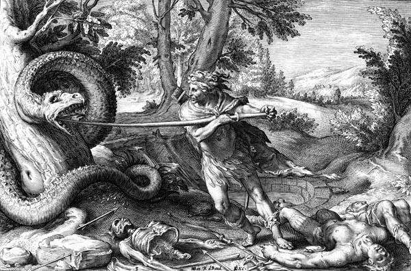 Goltzius Illustration - Cadmus Kills the Dragon