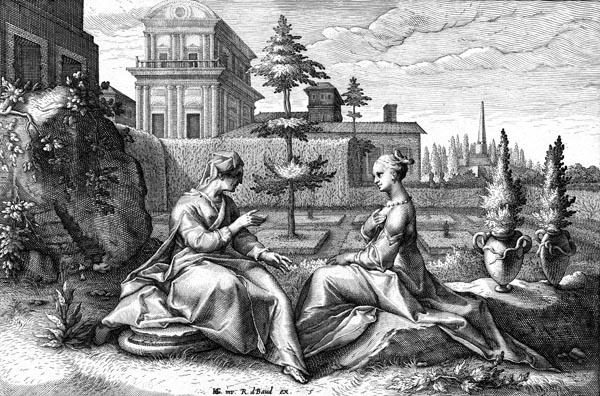 Goltzius Illustration - Juno in the guise of Beroe