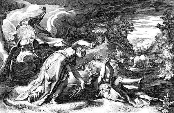 Goltzius Illustration - Juno Turning Callisto into a Bear