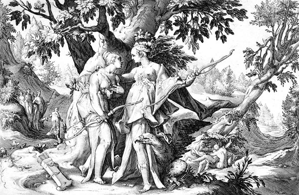 Goltzius Illustration - Jupiter Assuming the Form of Diana