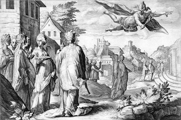 Goltzius Illustration - Mercury Enamored of Herse