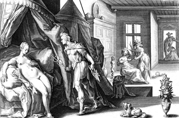 Goltzius Illustration - Mercury in the Chamber of Herse