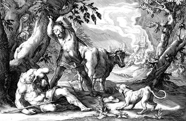 Goltzius Illustration - Mercury Killing Argus