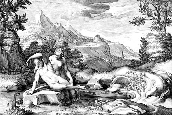 Goltzius Illustration - Salmacis and Hermaphrodite