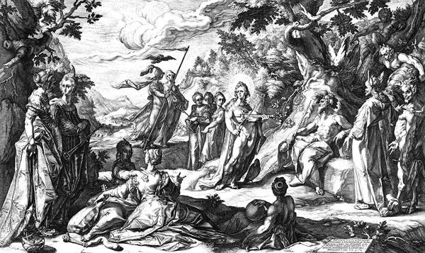 Goltzius Illustration - The Judgment of Midas