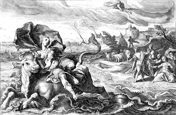 Goltzius Illustration - The Rape of Europa