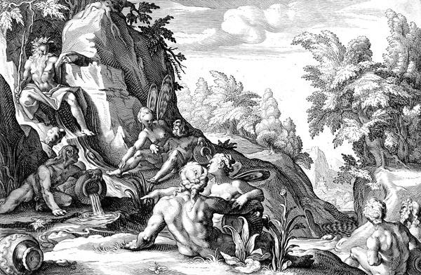Goltzius Illustration - The River God Peneus
