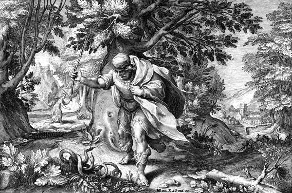 Goltzius Illustration - Tiresias and the Two Snakes