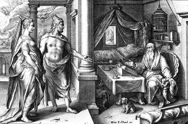 Goltzius Illustration - Tiresias in Conversation