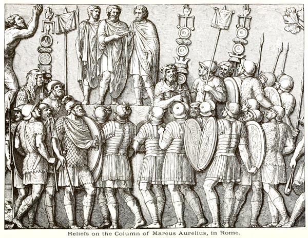 Reliefs on the Column of Marcus Aurelius in Rome