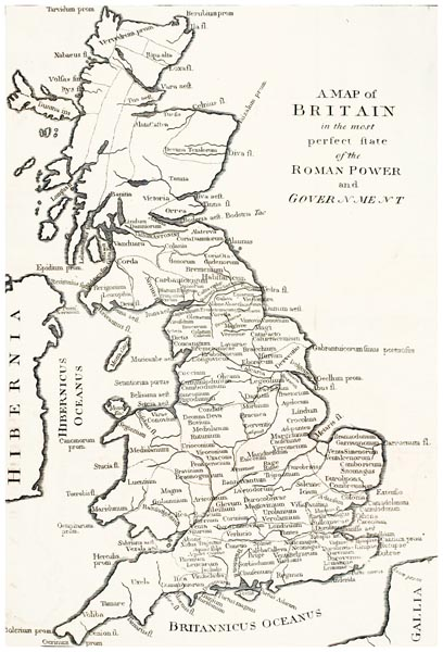 A Map of Britain in the Most Perfect State of Roman Power and Government