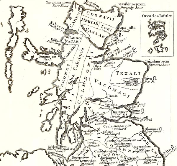 A Map of Scotland According to Ptolemy's Geography Rectified