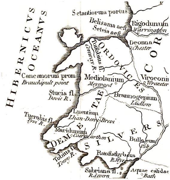A Map of Wales According to Ptolemy's Geography Rectified