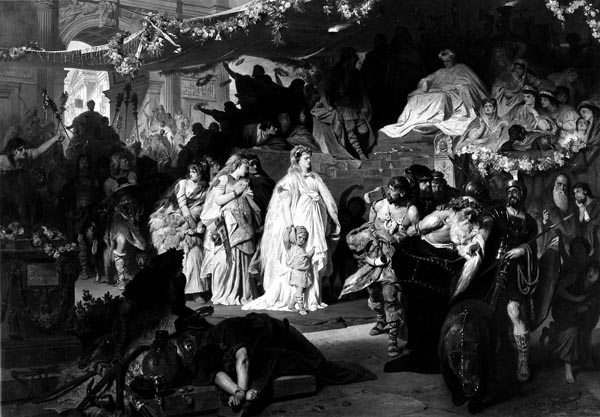 Thusnelda at the Triumphal Entry of Germanicus into Rome