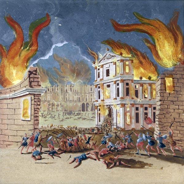 Burning City (likely Rome)