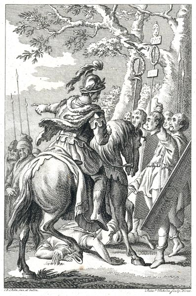 The Cherusci Commander Arminius Defying the Romans