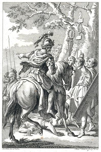 The Cherusci Commander Arminius Defying the Romans