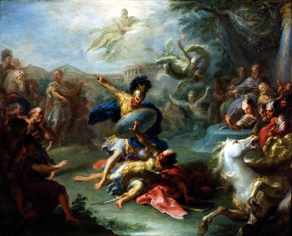 The Fight between Aeneas and King Turnus, Giacomo del Po