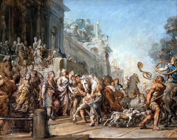 The Departure of Dido and Aeneas for the Hunt, Jean-Bernard Restout