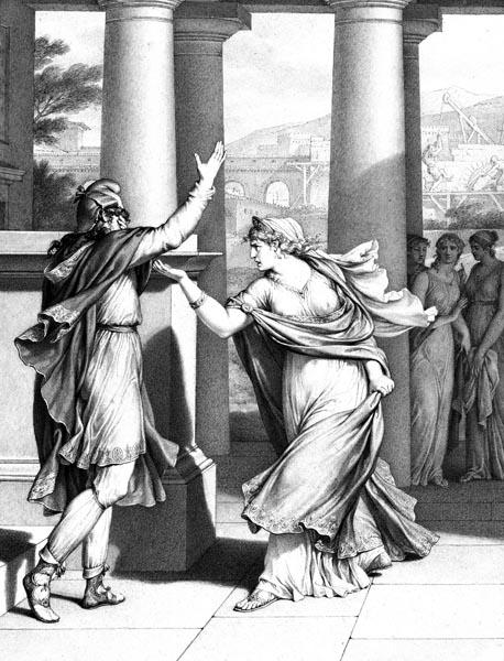 Dido Excoriates Aeneas, Jean-Michel Moreau le jeune