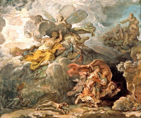 Aeneas and Dido Fleeing the Storm, Jean-Bernard Restout