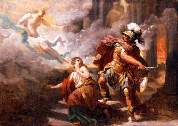 Helen Saved by Venus from the Wrath of Aeneas, Jacques Sablet
