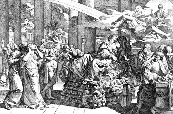 The Suicide of Dido, Giovanni Cesare Testa