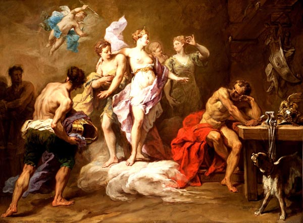 Venus Ordering Arms from Vulcan for Aeneas, Jean Restout