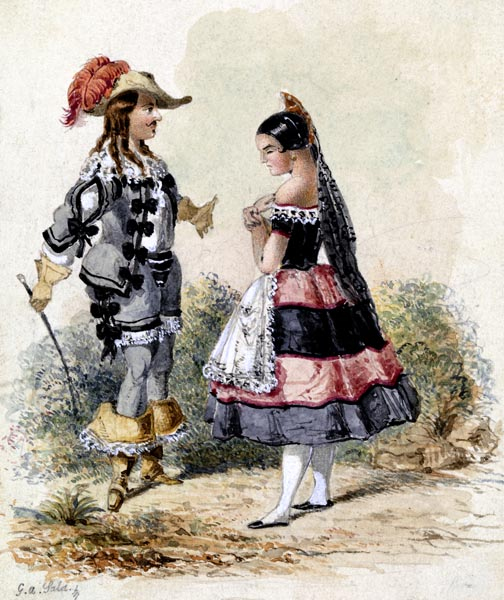 Cavalier and Maid in Spanish Costume